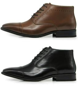 Men Classic Captoe Perforate Chukka Ankle Oxfords Dress Boot