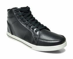 DREAM PAIRS Men's 160309-M Black White High Top Oxfords Shoe