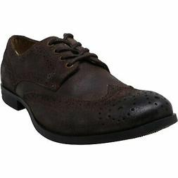 Calvin Klein Men's Adam Waxed Leather Ankle-High Oxford