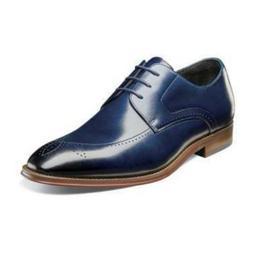 Stacy Adams Men's Ballard Plain Toe Oxford Shoes Ink Blue 25