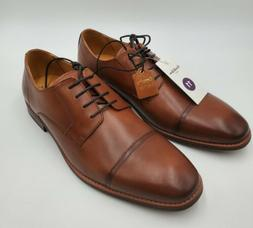 men s brandt leather cap toe oxford