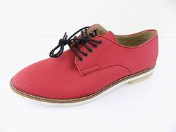 Calvin Klein Men's Brick Red Aggussie Nylon Oxfords Shoes Si