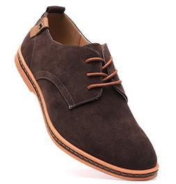 Dadawen Men's Brown Leather Oxford Shoe - 11 D US