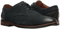 Clarks Men's Broyd Wing Oxford Navy Suede Dress Shoes 261241