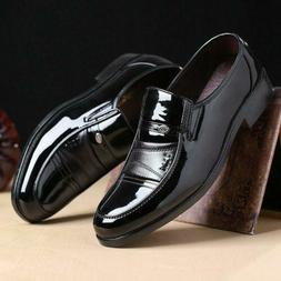 Men's Business Leather Shoes Slip on Oxfords Dress Casual Fo