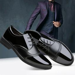 Men's Business Oxford Leather Shoes Fashion Dress Formal Wed