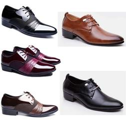 Men's Business Oxford Leather Shoes Party Pointy Toe Casual