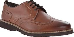 Florsheim Men's Casey Casual Wingtip Oxford, Cognac, 9.5 D U