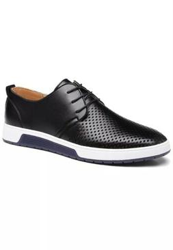 Men's Casual Oxford Shoes Breathable Flat Fashion Sneakers B