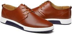 ZZHAP Men's Casual Oxford Shoes Breathable Flat Fashion Snea