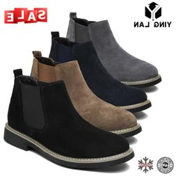 Men's Chukka Suede Leather Desert Oxford Ankle Boots Flat Ch