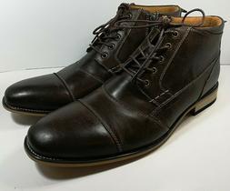 Kunsto Men's Classic Leather Oxford Flats Shoes Lace Up Sz,1