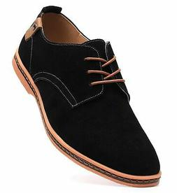 DADAWEN Men's Classic Suede Leather Oxford Dress Shoes Busin