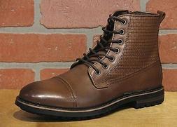 La Milano Men's Cup Toe Oxford Dark Brown Leather Boots B513