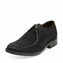 Clarks Men's Delsin Rise Casual Oxford Black Leather Shoes S