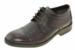 Clarks Men's Delsin View Oxfords Burgundy Shoes Style 03536