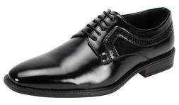 Men's Dress Shoes Plain Toe Oxford Solid Black Lace Up ANTON