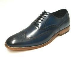 Men's Stacy Adams Dunbar Navy Oxford Wingtip Dress Shoes