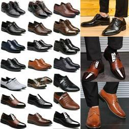 Men's Formal Dress Leather Oxfords Shoes Casual Pointed Toe