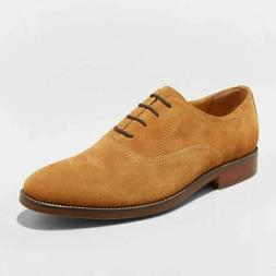 Men's Gracin Suede Oxford Dress Shoes - Goodfellow & Co Tan