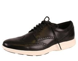 Cole Haan Men's Grand Tour Wingtip Black Ivory Leather oxfor