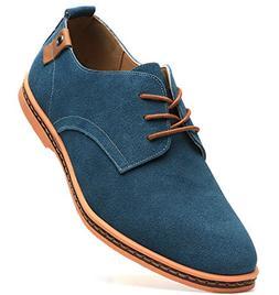 Dadawen Men's Green Leather Oxford Shoe - 12 D US