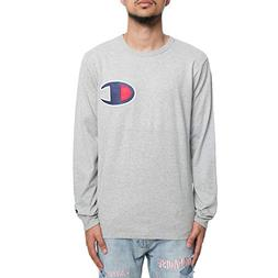 Champion LIFE Men's Heritage Long Sleeve Tee, Oxford Grey/c