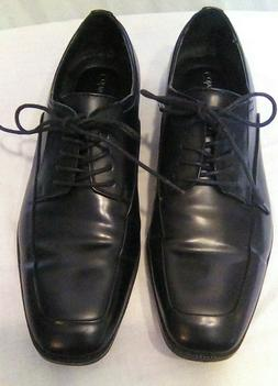 Calvin Klein Men's Hester Leather Oxford Dress Shoes Black S