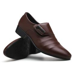 Men's Leather Business Shoes Slip On Oxfords Formal Flats Ca