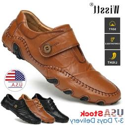 Men's Leather Loafers Oxfords Casual Breathable Business For