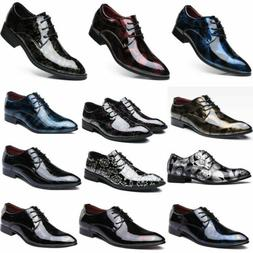 Men's Leather Oxford Business Shoes Pointed Toe Wedding Part