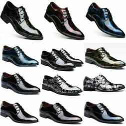 Men's Leather Oxford Dress Business Shoes Pointed Toe Weddin