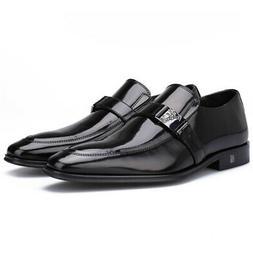 Versace Collection Men's Leather Oxford Dress Shoes, Black,
