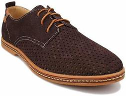 Kunsto Men's Leather Oxfords Dress Shoes Lace up US Size 10