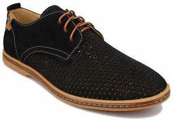 Kunsto Men's Leather Oxfords Dress Shoes Lace up US Size 8 B