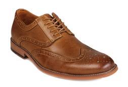 Kunsto Men's Leather Oxfords Dress Shoes Lace up