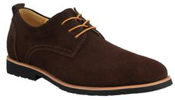 iLoveSIA Men's Leather Suede Oxfords Shoe US Size 10 Brown
