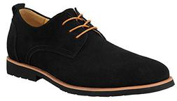 iLoveSIA Men's Leather Suede Oxfords Shoe US Size 7 Black