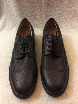 Clarks Men's Norse Wing Black Leather Oxfords Shoes 63251 Si