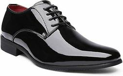 Men's Formal Oxford Dress Loafer Shoes Faux Patent Leather T