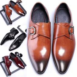 Men's Oxford Leather Shoes Wedding Dress Pointed Oxfords Cas