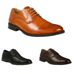 Men's Oxford Shoes Leather Lined Brogues Party Wedding Dress