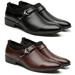 Men's Oxfords Leather Shoes Casual Pointed Toe Wedding Forma