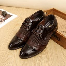 Men's Oxfords Leather Shoes Formal Business Dress Casual Poi