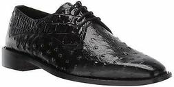 Stacy Adams Men'S Russo Ostrich Print Lace-Up Oxford  - Blac