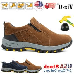 Men's Safety Shoes Steel Toe Work Boots Oxfords Hiking Climb