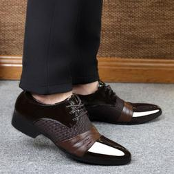 Men's Shoes Formal Dress Business Oxford Pointy Toe Lace Up