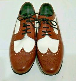 Brentano Men's Shoes Size 13W Oxford Wingtips Brown White Le