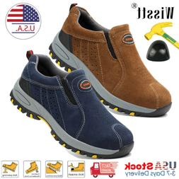 Men's Steel Toe Caps Work Boots Slip On Oxford Safety Shoes