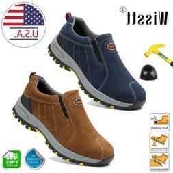 Men's Steel Toe Work Boots Oxford Safety Shoes Indestructibl